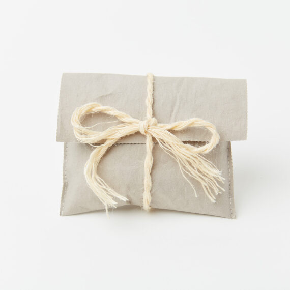 Pochette in Paper Grigio Perla